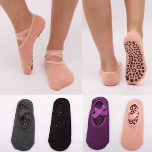 Yoga Socks Non Slip Pilates Massage Ballet Socks With Grip Gym Exercise 1 Pair C