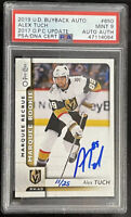 2019 BUYBACKS 2017 Alex Tuch PSA 9 #11/25 AUTO RC OPC MARQUEE ROOKIE DNA #650