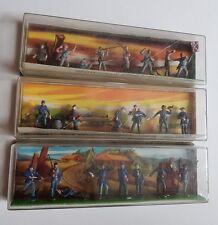 Bundle Louis Marx Miniature Masterpieces Civil War rare toy soldiers figures x3