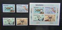 Bahamas 1981 Wildlife 1st Series Birds set and Miniature Sheet MNH