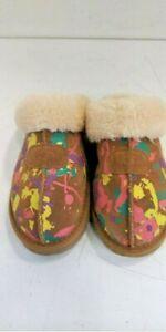 Women's UGG Coquette Chestnut Paint Splatter Slipper Size 9 $120 New