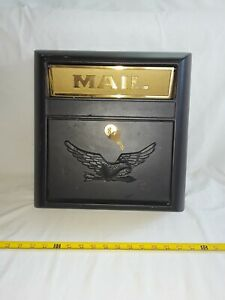 Wall Mount Mail Box Heavy Duty Galvanized Steel Extra Large Mailbox, Home, W/KEY