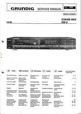 Service Manual-Istruzioni per Grundig CD 8400 MKII