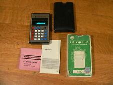 Vintage Enterprex Model R-90 Calculator w/Original Box, Papers~Working Condition