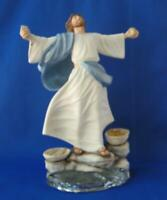 Exquisite Large Franklin Mint JESUS LOAVES AND FISHES Porcelain Figurine