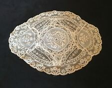 PRETTY ANTIQUE  VINTAGE FRENCH NORMANDY LACE DOILY