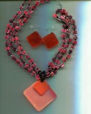 COLDWATER CREEK CINNAMON necklace earrings set
