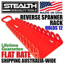 STEALTH Reverse Spanner Rack Gripper 12 Tool Wrench Organiser Storage Made in US