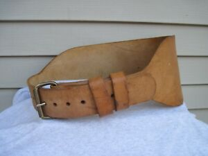 Vintage 6-Inch ALTUS Heavy Leather Weight Lifting Belt Size XL Plus  42-50