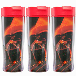 3pk Zak Darth Vader Star Wars Double Insulated 15oz Lidded Sipper Travel Tumbler