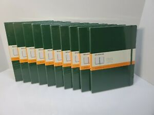 LOT OF 10 - Moleskine Notebook, Extra Large, Ruled, Myrtle Green, Hard Cover