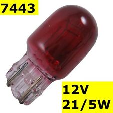 Red Stop Tail ampoule T20 Wedge pour Clear Lights 7443 380 W Lampe frein Lampe voiture auto