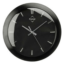 Retro Wall Mounted Clock Black Aluminium For Home Office School - Brand New