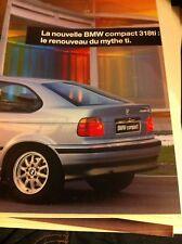BROCHURE BMW 318 TI  COMPACT  MODELE  FRANCAIS  31 PAGES  2ème  semestre 1994
