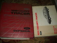 1991 Ford Escort & Mercury Tracer Service Shop Repair Manual Set W EVTM EWD OEM