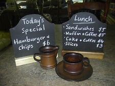 Counter Table Chalkboard Blackboard Restaurant Cafe Bakery Coffee Shop Menu Sign