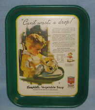 Campbells Soup Can't Waste a Drop Ad Metal Tray 1993