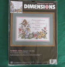 FLOWERY VERSE - Cyndy Callog - Dimensions Stamped Cross Stitch Kit