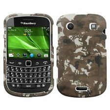 Rubber Yellow Camo HARD Protector Case Phone Cover for Blackberry Bold 9930 9900