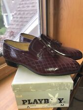 Vintage Nos Playboy Wine Leather Tassel Loafers Orig Box And Tissue New Sz 12 M