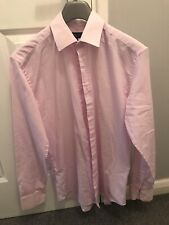 "Taylor & Wright Pink Long Sleeved Formal Smart Suit Shirt 15"" 15 Inch Men"
