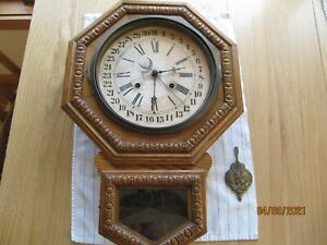 Waterbury Calendar School Clock, for restore/repair/parts
