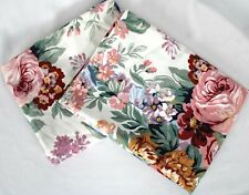 Vintage Ralph Lauren ALLISON Floral Roses Bouquet Standard Pillowcases Lot of 2