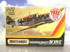 MATCHBOX 1/72 MESSERSCHMITT Bf109 E-3/4 1941/3 PLASTIC MODEL KIT PK17 PK-17 1983