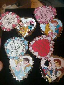 WOW RARE disney pin valentines complete set limited edition sweetheart series $$