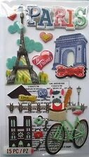 JOLEE'S BOUTIQUE LE GRANDE PARIS Sights Scrapbook Craft Sticker Embellishment