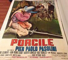 MANIFESTO 4F PIERPAOLO PASOLINI PORCILE