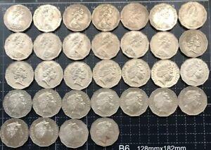 AUSTRALIAN 1969 - 2018 50 CENT COIN SET - TOTAL 49 COINS  VF - aUNC *