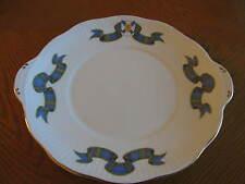 Rosina-Queen's China Co. Ltd. England Nova Scotia Tartan Tab Handle Cake Plate