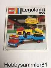 Lego® 655 Bauanleitung Legoland Sattelschlepper mit Hebebühne