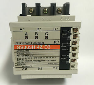 Fuji Electric SS303H 4Z D3 Soild State Contactor Brand New 3 pole 30A 5-24Vdc