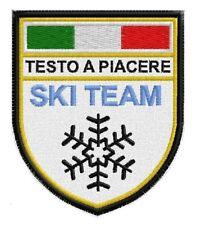 Patch MAESTRO SCUOLA ITALIANA SCI SNOWBOARD FISI toppa termoadesivo SCRATCH