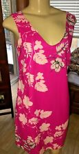 Vince Camuto Sleeveless Dress Hot Pink Fuschia FLORAL Size 2  GRT