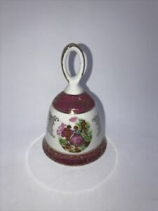 VINTAGE LUSTERWARE COURTING COUPLE BELL FROM JAPAN