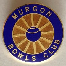 Murgon Bowling Club Badge Rare Vintage (L4)