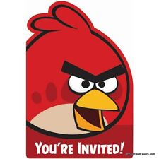 ANGRY BIRDS Party Supplies Birthday Animal INVITATIONS Decoration INVITE 8PCS NW