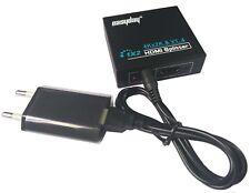 Full HD 1080P 1x2 HDMI Splitter HDMI Verteiler 2 Fach 1 In 2 Out für 3D HDTV PC