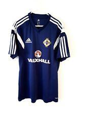 Northern Ireland Training Shirt. Medium Adidas. Blue Adults Football Top Only M.