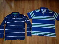 (2) American Eagle outfitters mens cotton polo shirt Medium