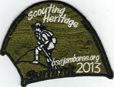 2013 National Jamboree Promo Tent Patch Series, Scouting Heritage, Mint!