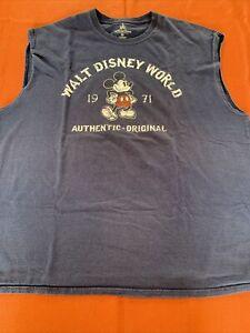 Walt Disney World Mens 2XL Sleeveless Muscle Shirt T-Shirt