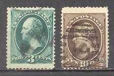 USA, Vereinigte Staaten, 1870, Mi, 38, 41, 2 Briefm., gest.