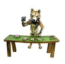 Wiener bronce jugadores de cartas zorro casino tarjetas dealer donantes crupier con sello