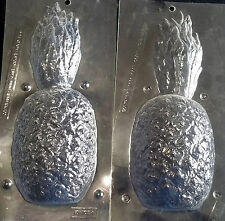 Pineapple 3-D Extra Large 2- Piece Chocolate Plastic Candy  Mold ECM AO-702A,B