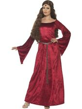 Ladies Red Medieval Maid Marion Maiden Princess Costume Fancy Dress XL 20-22