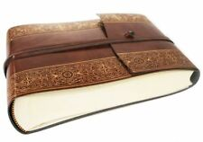 Maya Recycled Leather Photo Album, Small Gold - Handmade in Italy